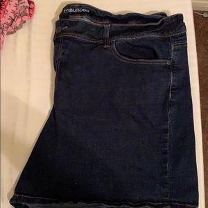 Maurices blue jeans shorts